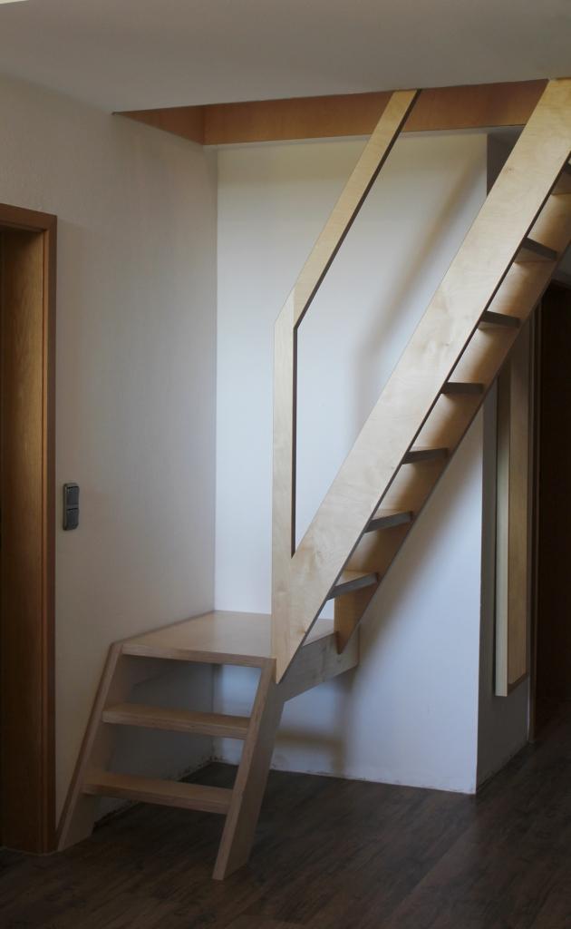 Treppe sehr platzsparend