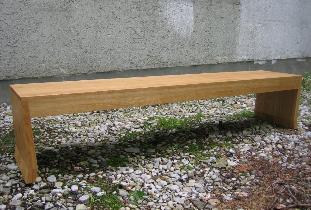Sitzbank aus Eiche